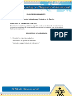 AA 9. Ev. Indicadores y Estándares de Gestión