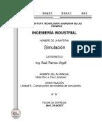 Unidad 3 Construccion de Modelos de Simulacion
