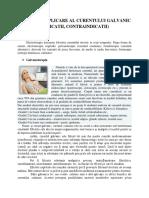 Moduri de Aplicare Al Curentului Galvanic(Indicatii, Contraindicatii)