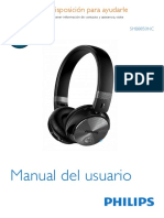 PHILIPS SHB8850 Manual Completo