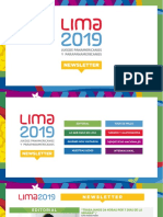 Newsletter Set Oct Esp Lima2019