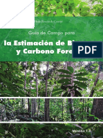 La Estimacion de Biomasa y Carbono Forestal -2012
