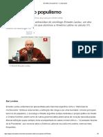 Em Defesa Do Populismo — ERNESTO LACLAU