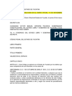 Codigo Penal Del Estado de Yucatan 14nov11