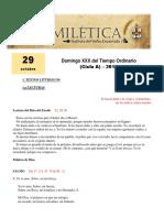 Domingo XXX Tiempo Ordinario (a)
