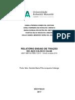 RELATÓRIOS DE AGLOMERANTES