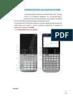 Manual de Programacion Hp Prime