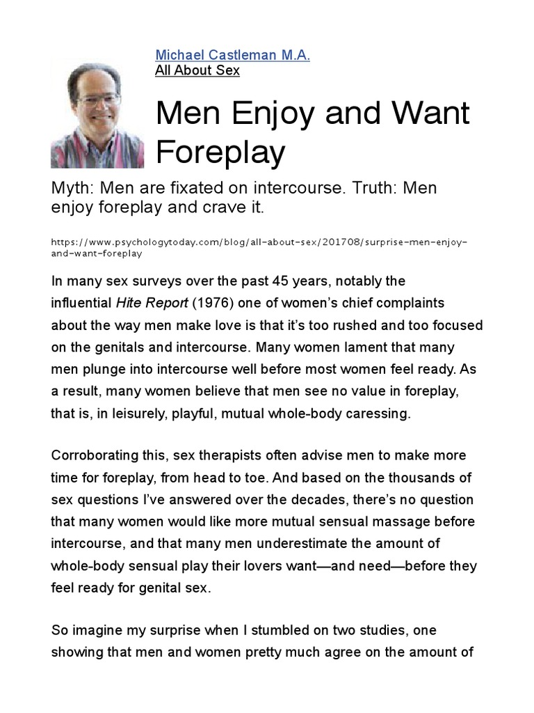 Foreplay do guys like what Women's Sexual