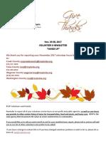 Nov. 20 30 Hands Up E-Newsletter