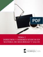 TEMA 2. DERECHOS Y DEBERES EN LA PREVENCIÓN DE RIESGOS LABORALES