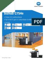 Bizhub c754e Datasheet