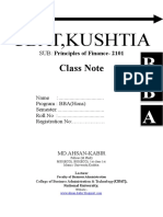 Principles of Finance - 2101