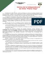 4 Inicios de La Independencia de Chile