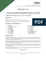Practica 4 - Amplificadores de Pequeña Señal Con BJT