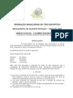 2013 Regulamento Silhuetas Metalicas Arma Longa