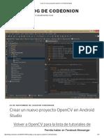 Crear Un Nuevo Proyecto OpenCV en Android Studio