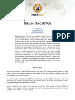 BitcoinGold Roadmap