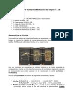 Unidad II Reporte de Practica Modulación de Amplitud