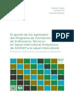 SALUD INTERCULTURAL - EL APORTE DE LOS EGRESADOS DEL PROGRAMA DE  FORMACION DE ENFERMEROS.pdf