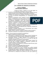 Bando de Policía y Gobierno Del Municipio de Chihuahua