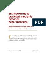 Estimacion de La Gravedad Mediante Metodos Experimentales