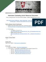 Baptism Audio Resources