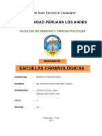 Escuelas Criminológicas - Monografía