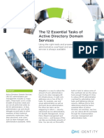 The 12 Essential Tasks of Active Directory Domain Services White Paper 13466