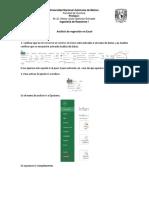 Análisis de Regresión en Excel