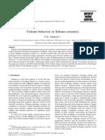 Tritium Behavior in Lithium Ceramics