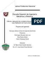 Cálculo y Selección de Un Sistema Fotovoltaico en Una Casa Habitación Con Local Comercial.