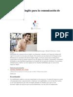 Habilidades Inglés Para La Comunicación de Negocios ACTIVIDAD INGLES