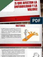 Factores Que Afectan La Confiabilidad y La Validez.