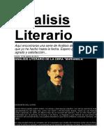 Analisis Literario de Marianela
