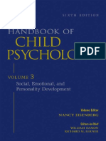 Handbook of Child Psychology, Vol. 3- Social, Emotional, And Personality Development