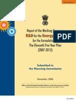 R&D Energy - Planning Com 11th Plan