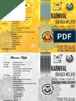 Buku Program Karnival Bahasa Melayu Zon Semenyih