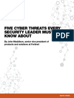 Fortinet - Five Cyber Threats Every Security Leader Must Know About