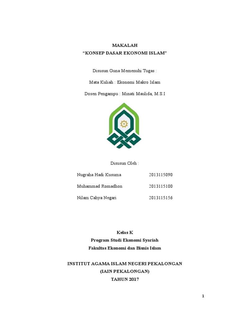 Makalah Konsep Dasar Dalam Ekonomi Islam