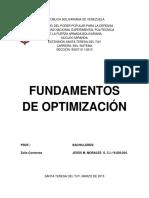 Fundamentos de Optimizacion