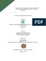 Modelacion Hidrologica de La Cuenca Alta Del Rio Atrato Mediante Hec-hms Para La Determinacion de Caudales Maximos