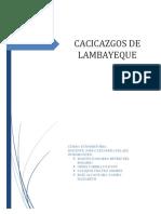 Casicazgos de Lambayeque