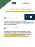 Documentos de Convocatoria Cas 2017