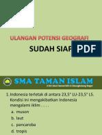 Sm1 01 Ulangan Potensi Geografi IPS Putri