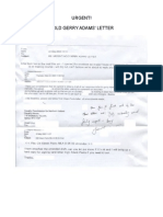 URGENT! HOLD GERRY ADAMS' LETTER