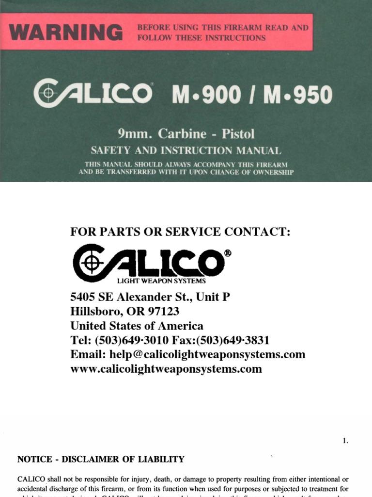 Calicom900m950pdf Magazine Firearms Trigger Firearms