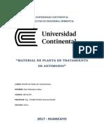 Informe de Antimonio Ptar