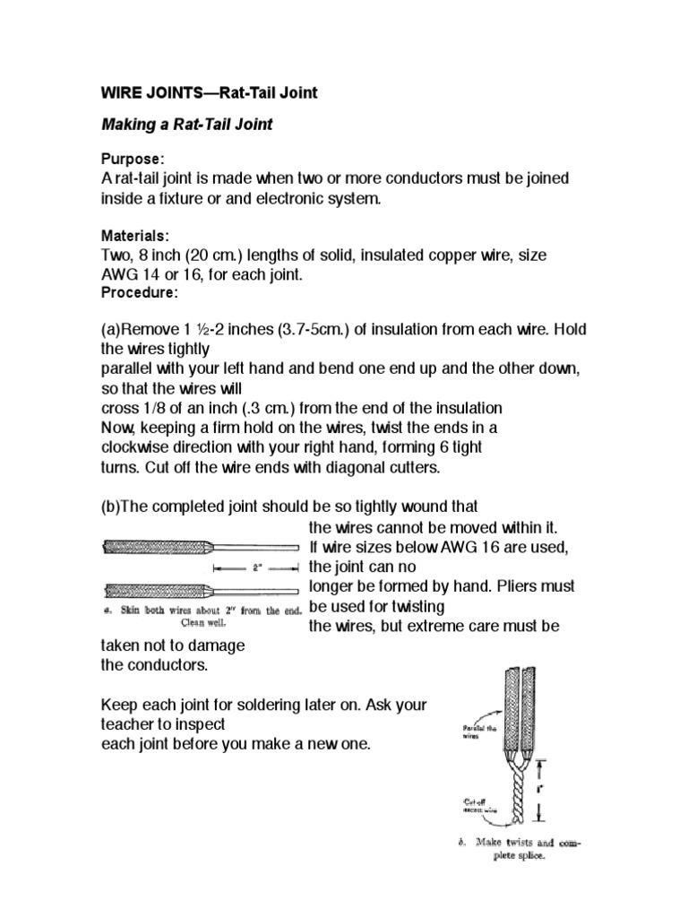 03 wire joints rat tail 1 rh scribd com