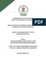 Plataforma Para Transporte de Carga - Luis Alberto Peñaherrera Maldonado..