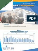 Boletin Estadistico Del Sector Servicios n 08 Agosto 2016